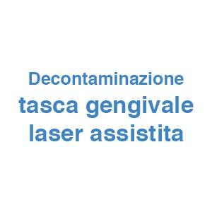 Decontaminazione tasca gengivale laser assistita
